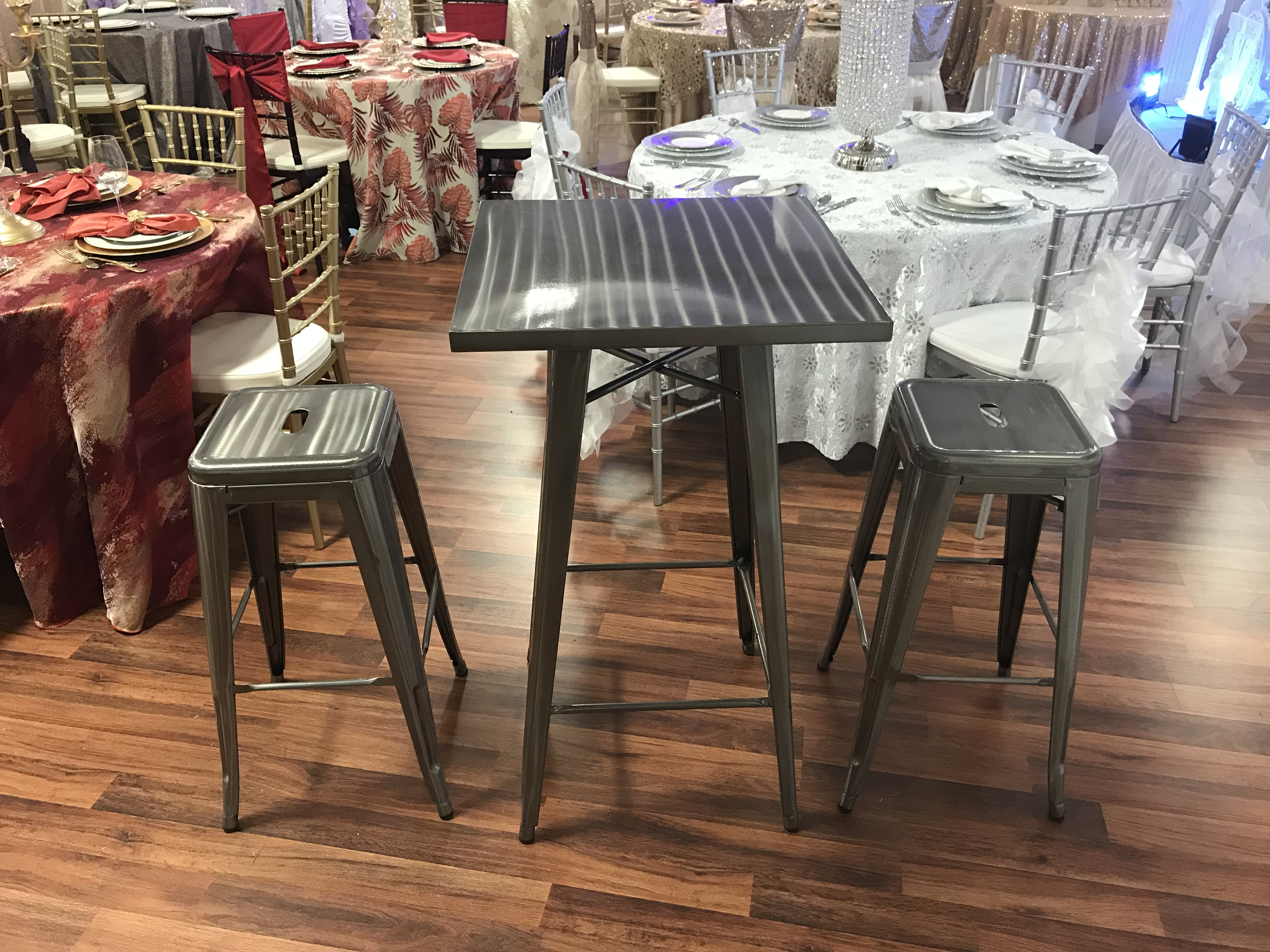 table chair rentals 2 target bean bag pillowfort silver bistro with stools party corporate events rental cincinnati dayton oh