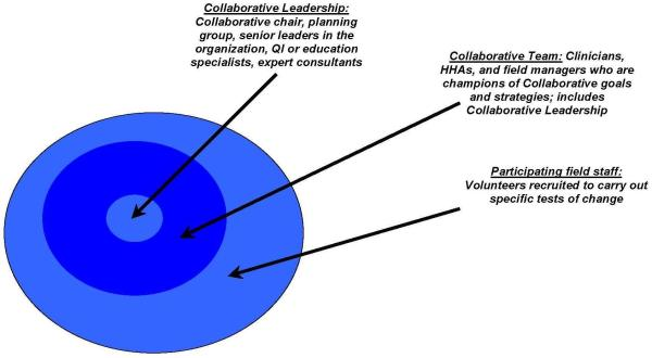 Collaborative Organizational Leadership Chart