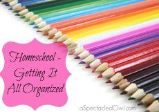Homeschool - Getting It All Organized