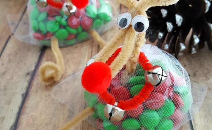 Reindeer Treat Bags - These Reindeer Treat Bags are simple to make, so much fun to receive and make great gifts for neighbors, your child's classmates, to pass out at work or to place on top of a present for a family member.