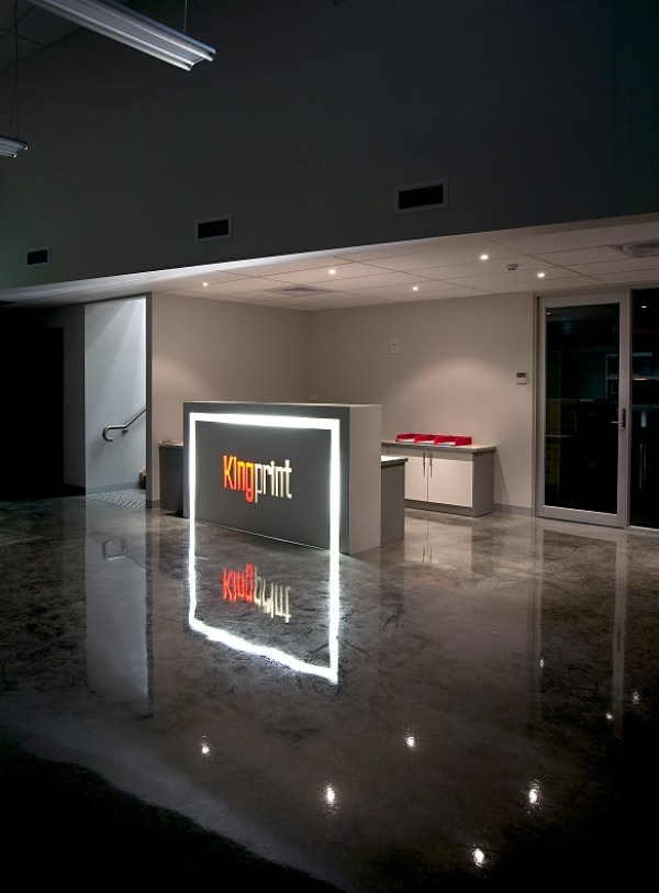 Reception Desk and Polished Concrete