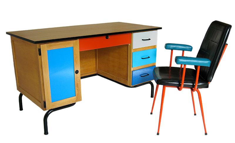 bureau maitre d'école vintage
