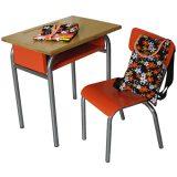 Table et chaise d'écolier Sonny & Cher