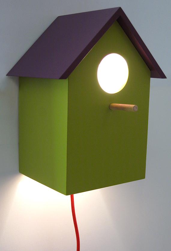 luminaire applique murale nichoir