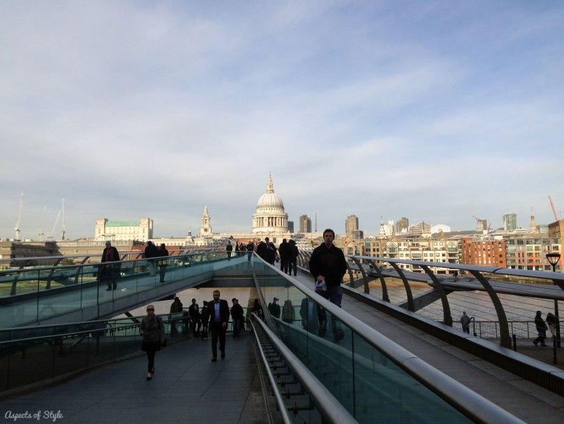 Millennium Bridge and St Paul's Cathedral London