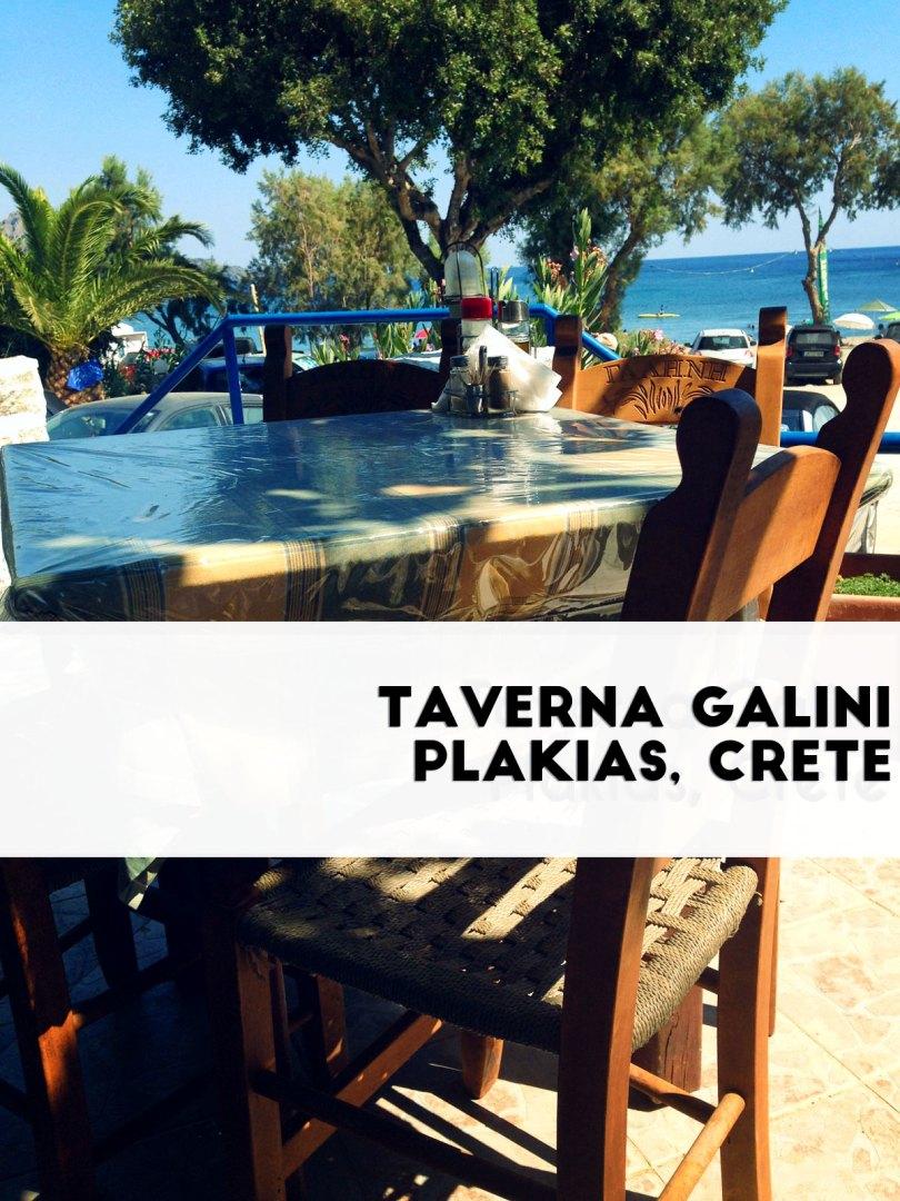 Galini Tavern, Plakias Crete