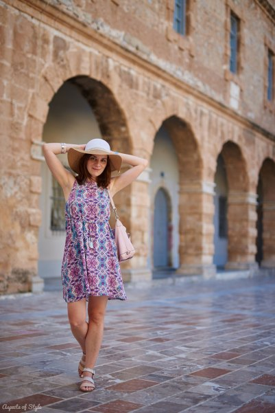 Floppy hat, summer dress