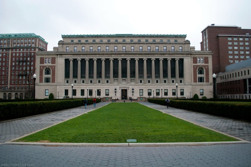 Butler Library at Columbia University , New York