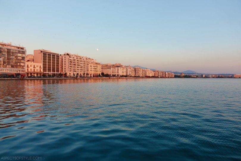Nikis avenue at dusk, Thessaloniki