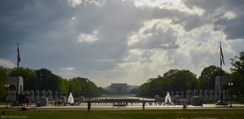 World War II and Lincoln Memorials, Washington DC