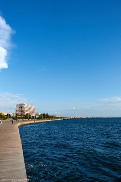 Thessaloniki seaside promenade and hotel Macedonia