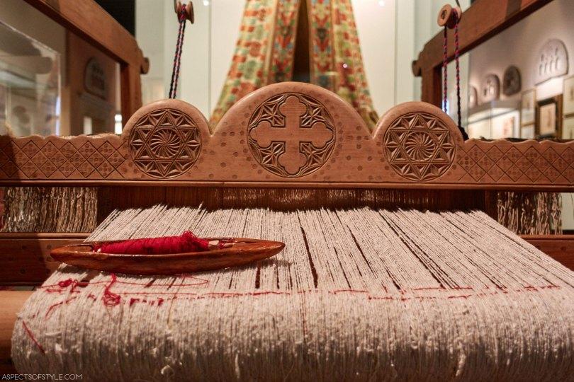 19th century loom from Crete, Benaki museum in Athens