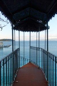 Public Garden overlooking Faliraki beach, Corfu
