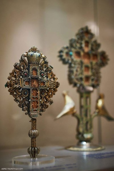 wooden crosses from the Byzantine and Christian museum in Athens