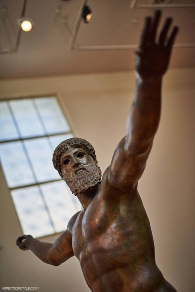 Zeus statue in Archaeological Museum in Athens