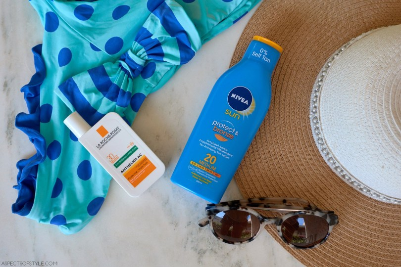 Nivea sunscreen, La Roche Posay sunscreen