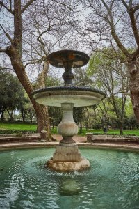 fountain at Borghese park, Rome, Italy