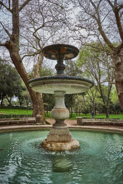 fountain at Borghese park, Rome, Italy