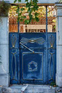 door in Kardamyli, Peloponnese, Greece
