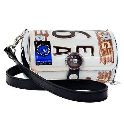 Wyoming license plate purse