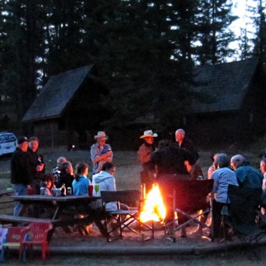 Campfire at Aspengrove Country Resort in Vernon BC Canada