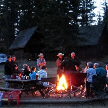 Campfire at Aspengrove Country Resort in Vernon BC Canada