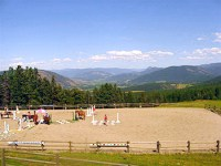 Main arena at Aspengrove Country Resort Vernon BC