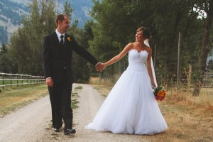 romantic country wedding Vernon BC