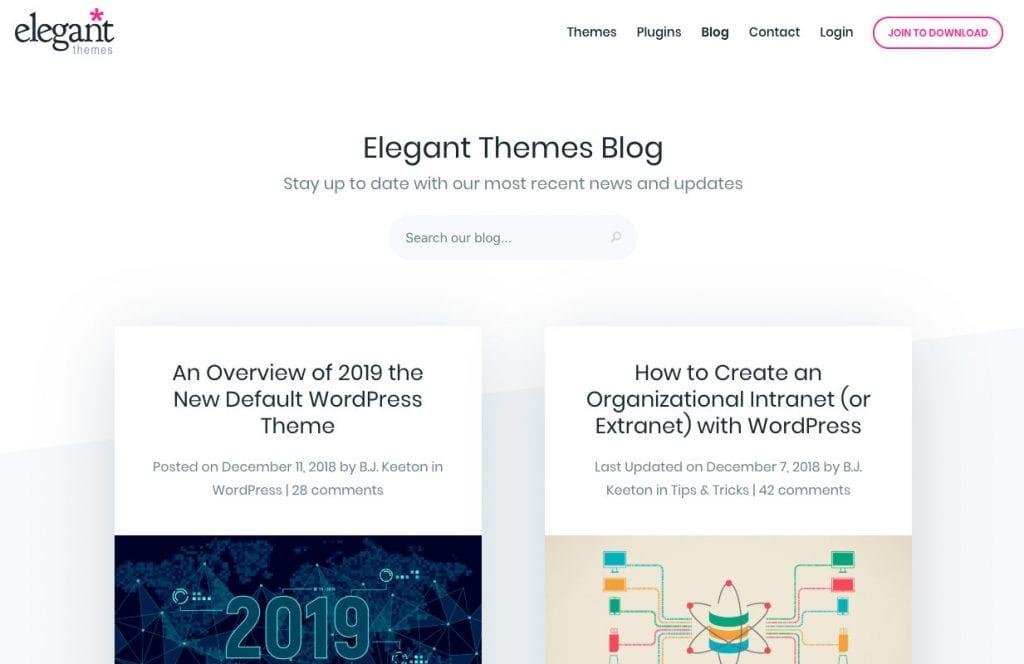 Blog des thèmes élégants