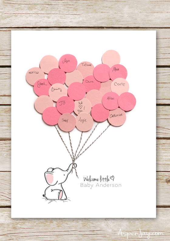 Pink and Grey Elephant Baby Shower Ideas + Party