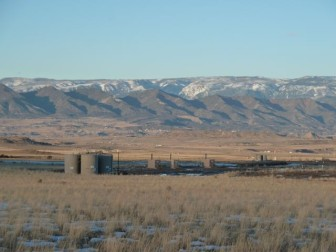 Looking north from Hunter Mesa toward the Colorado River valley and the ridge of the Hogback north of I-70.