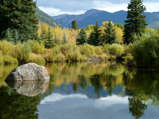 The Roaring Fork River above Aspen. About 37 percent of the Fork is diverted under the Continental Divide each year.