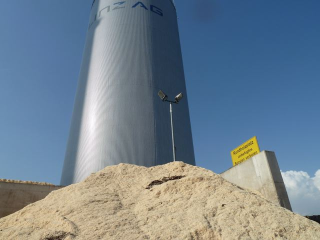 A portion of the wood-fired biomass plant in Linz, Austria that was visited last week by local Forest Service officials.
