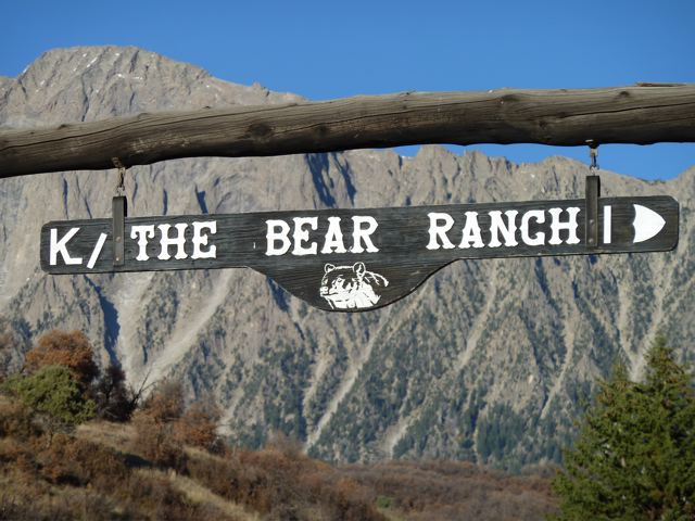 One of the gates to Bear Ranch. This one is at the end of Gunnison County Road 2, with Ragged Mountain in the background.