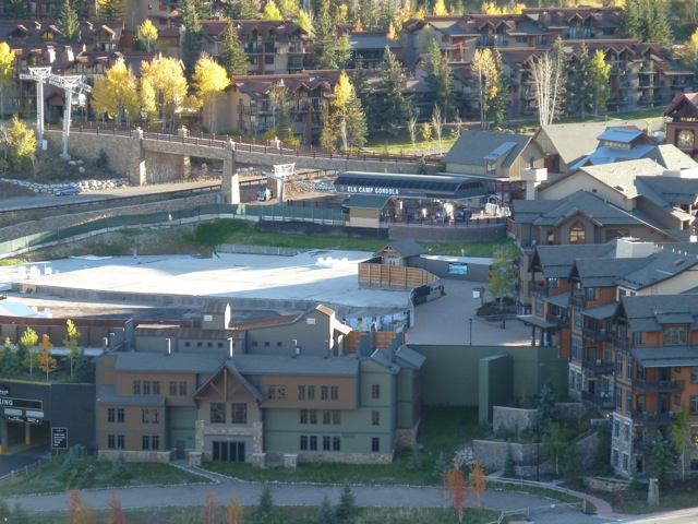 A view of the core of Base Village this fall. The open area below the Elk Camp Gondola is slated for the Little Nell Snowmass hotel.