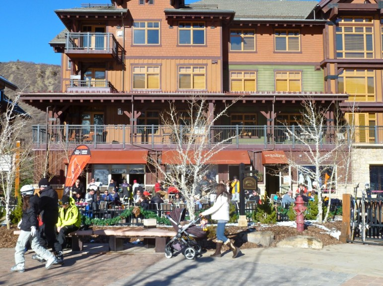Base Village in Snowmass Village on a recent sunny afternoon.