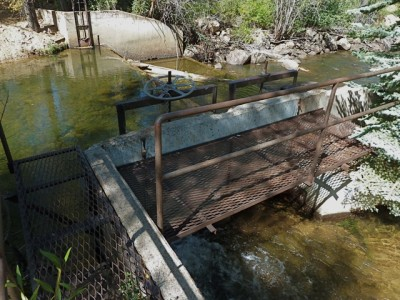 The Salvation Ditch diversion structure on the upper Roaring Fork River. In the drought of 2002, there were times when there was more water in the ditch than in the river. Will that happen this summer?