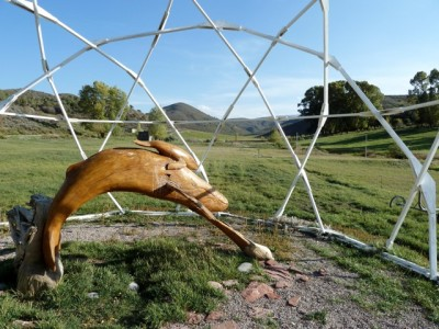 Buckminster Fuller built a dome on the Windstar property, which today shelters a whale sculpture. Denver was inspired by whales and the Windstar property is whale-shaped.