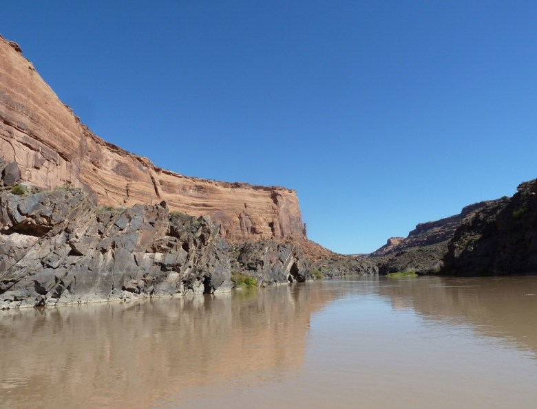 The Colorado River in Utah, on a section that lies below a number of dams in Colorado.