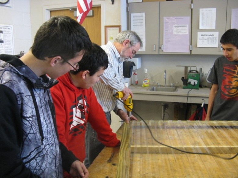 Basalt wood shop teacher Eric Pedersen is donating his time to teach students how to start a business in light industry.