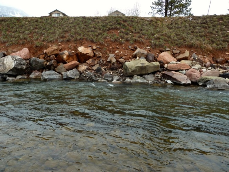 This section of the Roaring Fork River, just below Two Rivers Road, is relatively deep.