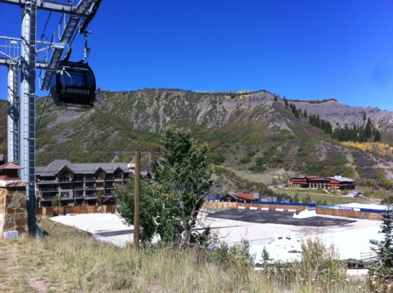 Raw platforms and building footers next to the Elk Camp gondola are daily reminders of the unfinished state of Snowmass Base Village.