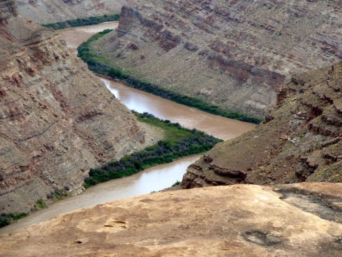 The confluence of the Green and Colorado rivers, in Sept. 2014.