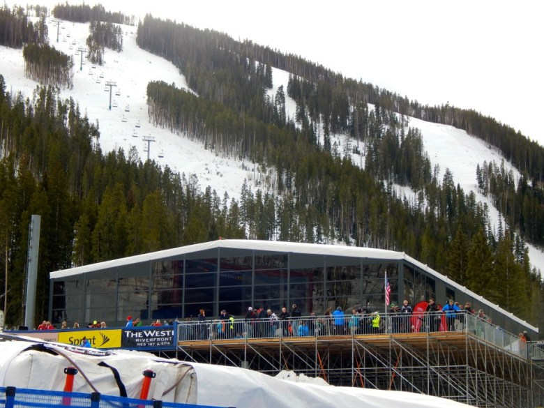 The VIP tent in Beaver Creek during the 2014 World Cup ski races.