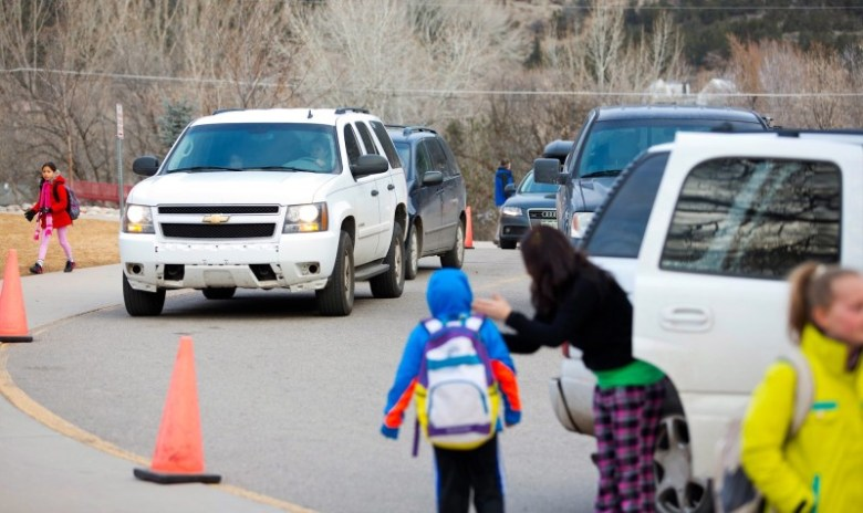 Traffic congestion is routine at Basalt Elementary School in the mornings and afternoons. Reconfiguring the parking and circulation at the campus is high among the priorities in the Roaring Fork School District's Facilities Master Plan.