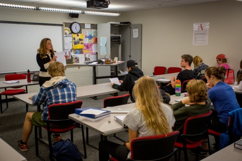 In College & Career Discovery, a semester-long class for AHS juniors, College Counselor Melissa Lustig leads students through a multi-faceted preparation for the college application process, from resumes to interview skills and taking the ACT test. Basalt High will add a Discovery class in 2015-16.