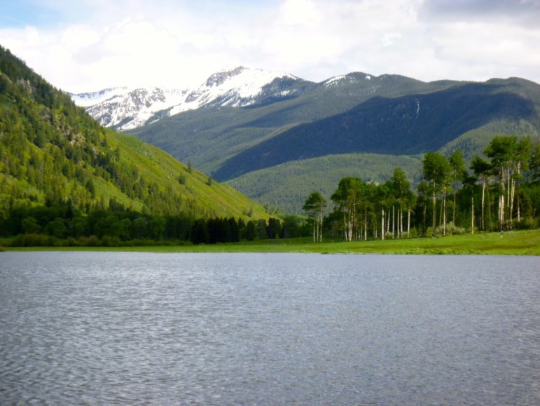A large portion of the meadow in the North Star nature preserve east of Aspen was flooded in June 2015, allowing boaters in the Stillwater section of the Roaring Fork River to expand their horizons.