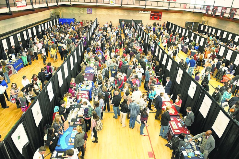 The Western Slope College Fair, shown here in 2013, enables students from Western Colorado to meet admissions officers from some 250 colleges and universities.