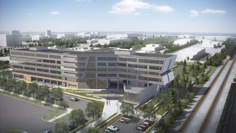 A rendering of Denver Water's new administration building in Denver.