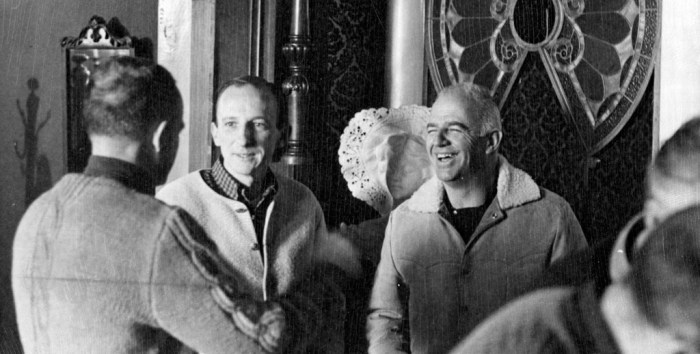 Aspen Mayor Robert (Bugsy) Barnard, right, at the Paragon bar in Aspen on Jan. 8, 1968, four years after he was elected to the Aspen City Council with Harald Pabst.